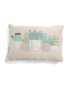 Made In India 14x20 Embroidered Pillow