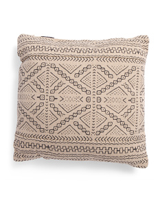 Made In India 20x20 African Mudcloth Pillow