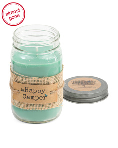 Made In Usa 16oz Happy Camper Candle