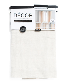 38x84 Set Of Faux Linen Luxe Curtains