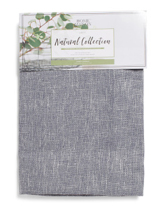 Set Of 2 Natural Faux Linen Curtains