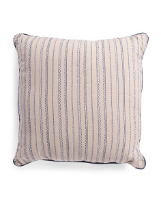 Made In India 24x24 Stripe Woven Pillow