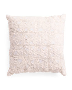 Made In India 24x24 Waffle Applique Pillow