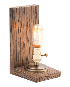 10in Book End Edison Lamp