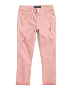 Big Girls Destructed Colored Denim Pants
