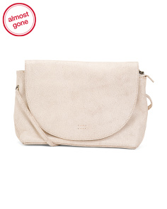 Leather Flap Front Messenger