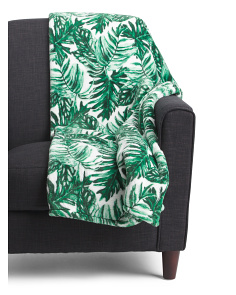 Plush Banana Leaf Throw