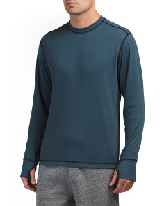 Geo Pro Crew Neck Long Sleeve Top