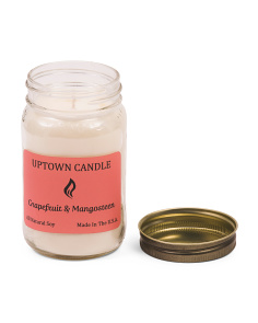 Made In USA 16oz Grapefruit & Mangosteen Candle