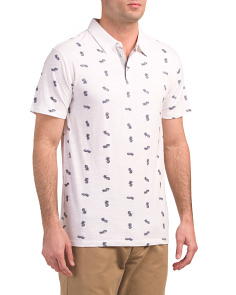 Pineapple Palm Print Polo