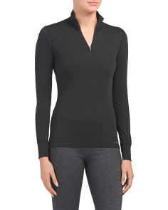 Mid-weight Quarter Zip Base Layer Top