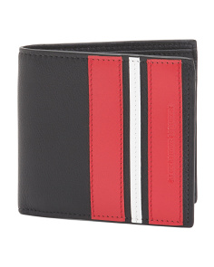 Made In Italy Striped Leather Wallet
