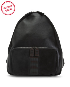 Made In Italy Vertebra Leather Backpack
