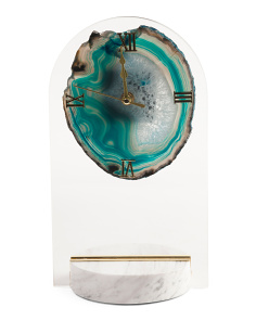 Clock With Agate