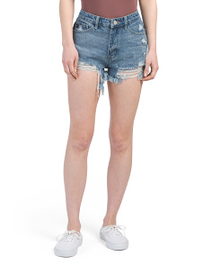 Juniors High Rise Rigid Shorts