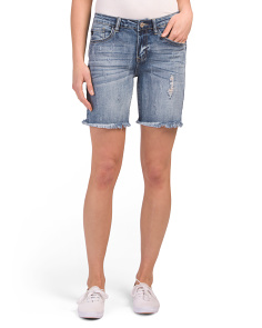 Juniors Mid-rise Bermuda Shorts