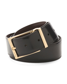 Men's Made In Italy Reversible Gancini Leather Belt