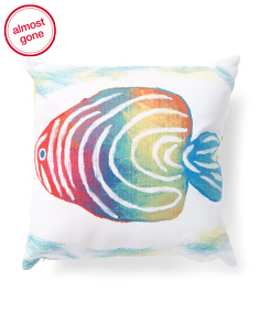 20x20 Indoor Outdoor Fish Pillow