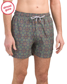 Moss Print Swim Trunks