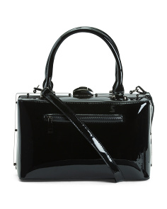 Patent Box Framed Satchel