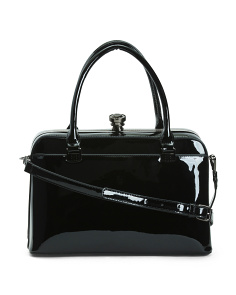 Patent Framed Satchel