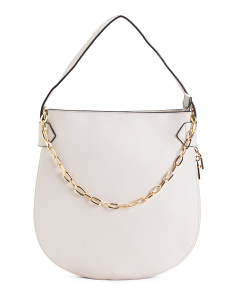 Expandable Hobo With Chain Strap