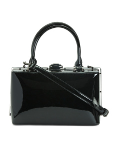 Box Framed Patent Satchel