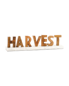 Made In India Harvest Marble Stand Sign