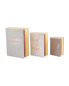 Set Of 3 Inspiration Book Boxes