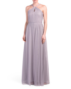 Knot Front Halter Gown