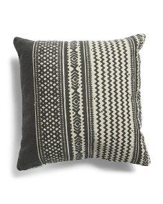 Made In India 20x20 Chevron Stripe Pillow