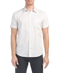 Short Sleeve Scattered Geo Print Shirt