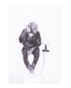 24x36 Telephone Monkey Canvas Wall Art