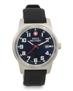 Men's Swiss Made Field Classic Silicone Strap Watch