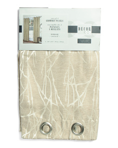 38x84 Set Of 2 Textured Curtains