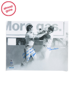Pete Rose & Bud Harrelson Dual Signed Photo