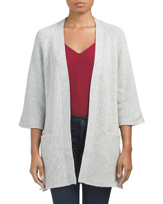 Cashmere Ribbed Cardigan Sweater