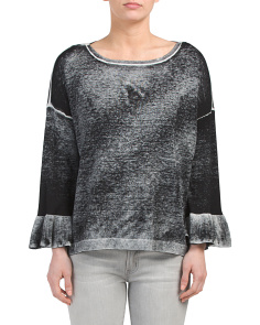 Space Dye Bell Sleeve Lightweight Sweater