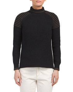 Thermal Ottoman Shoulder Turtleneck Sweater