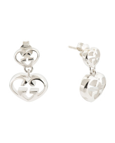 Made In Italy Sterling Silver Love Britt Double G Earrings