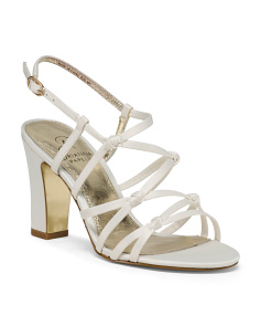 Strappy Satin Heeled Sandals