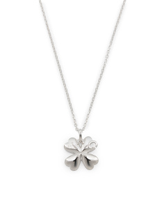 Made In Italy Sterling Silver G Charlotte Clover Necklace