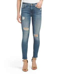 Desctructed Ankle Skinny Jeans