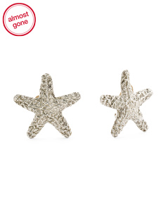 Made In Israel Sterling Silver Starfish Earrings