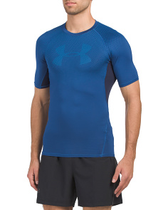 Graphic Short Sleeve Compression Top
