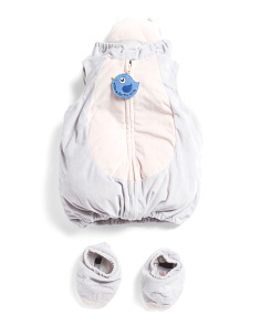 Baby Unisex Hippo Plush Bubble Costume