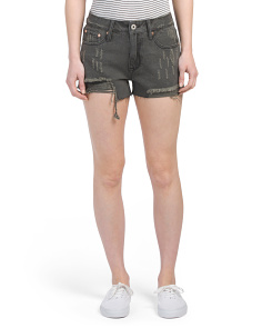Juniors Distressed Denim Shorts