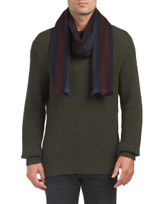 Made In Italy Web Wool Scarf