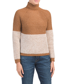 Raglan Shaker Sleeve Sweater