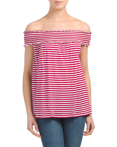 Sleeveless Striped Gauze Top